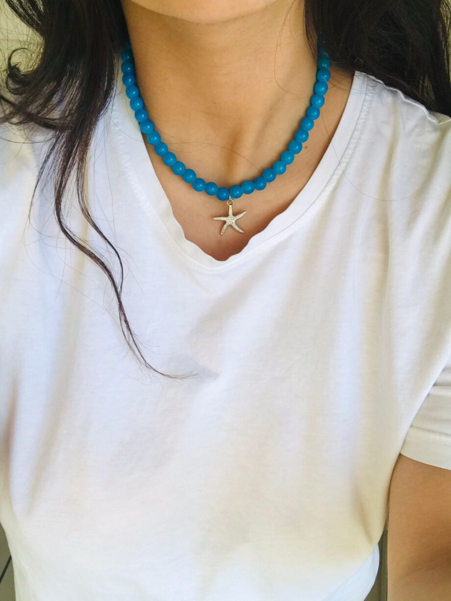 mavi-doğal-tas-yıldız-kolye